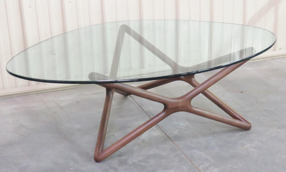 ADRIAN PEARSALL STYLE GLASSTOP COFFEE TABLE - 2