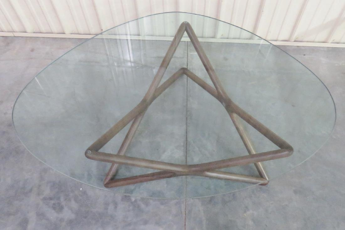 ADRIAN PEARSALL STYLE GLASSTOP COFFEE TABLE - 4