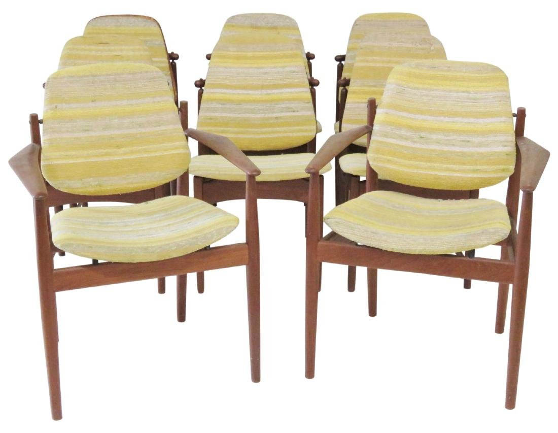 8 HOVMAND OLSEN DANISH MODERN DINING CHAIRS