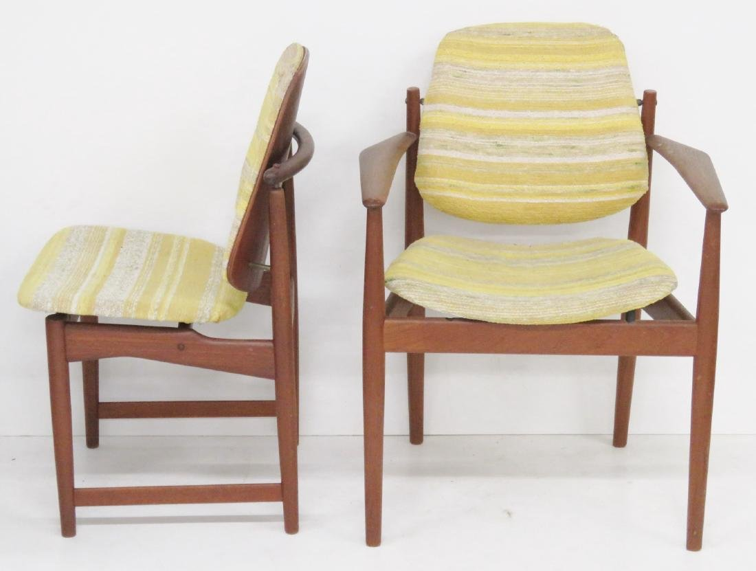 8 HOVMAND OLSEN DANISH MODERN DINING CHAIRS - 2