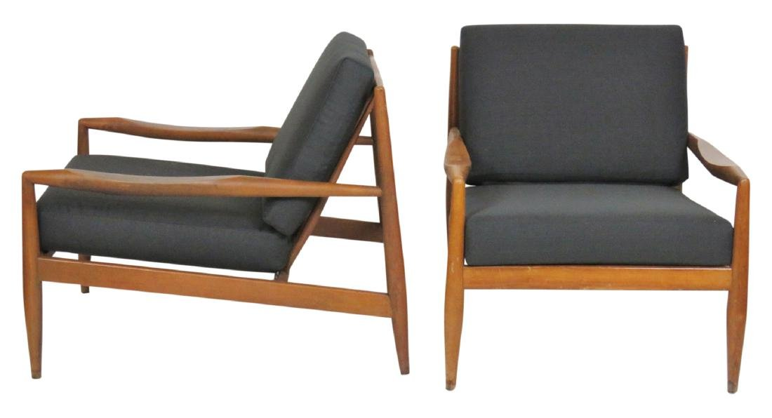 DANISH MODERN UPHOLSTERED LOUNGE CHAIRS