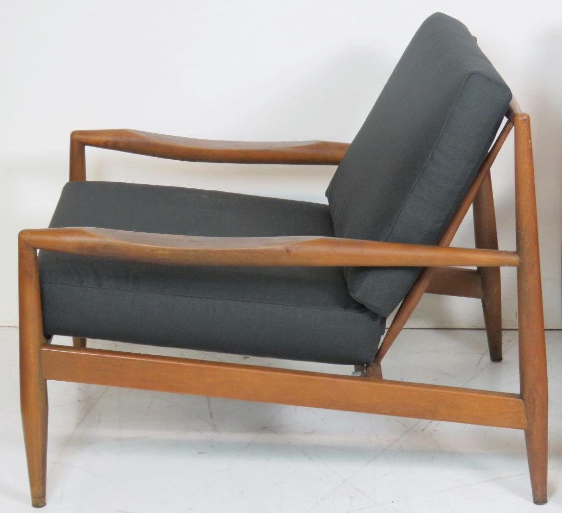 DANISH MODERN UPHOLSTERED LOUNGE CHAIRS - 2