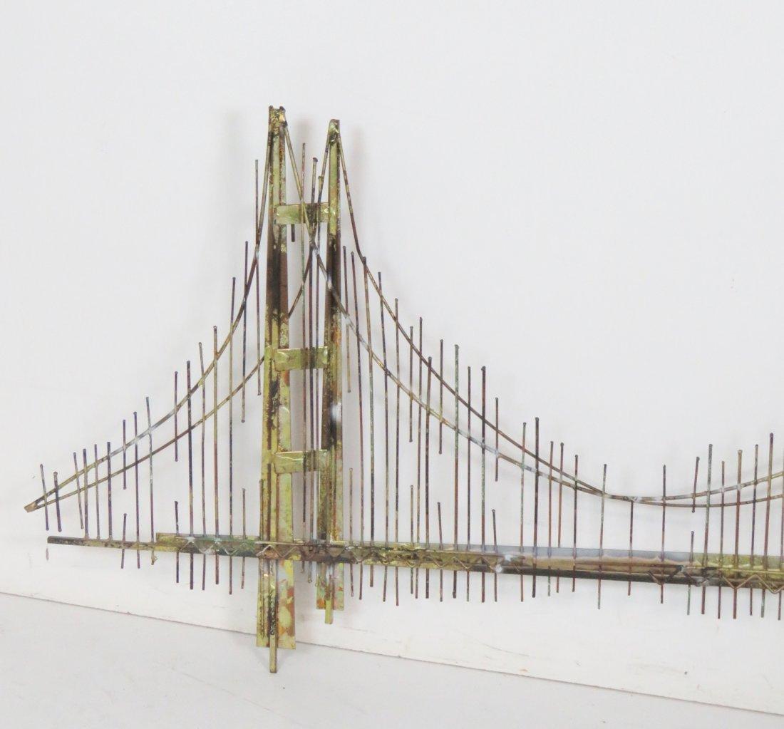 CURTIS JERE GOLDEN GATE BRIDGE SCULPTURE - 3