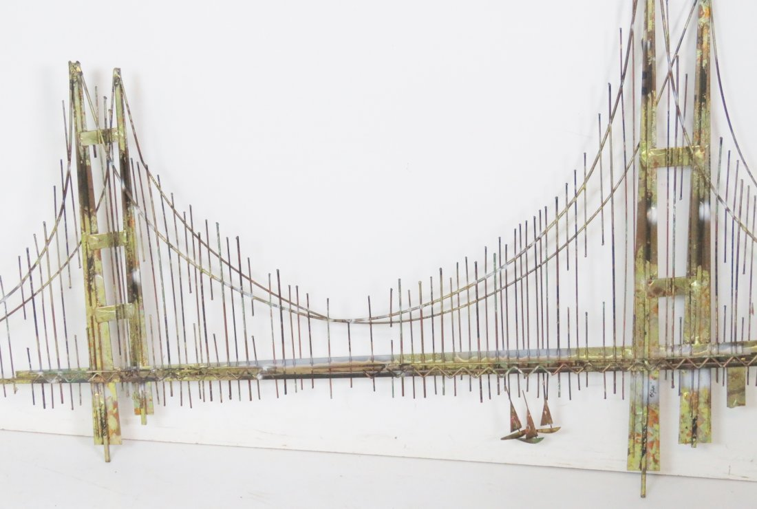 CURTIS JERE GOLDEN GATE BRIDGE SCULPTURE - 4