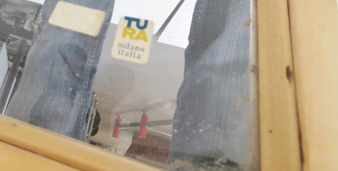ALDO TURA LACQUERED GOATSKIN BAR CART - 8
