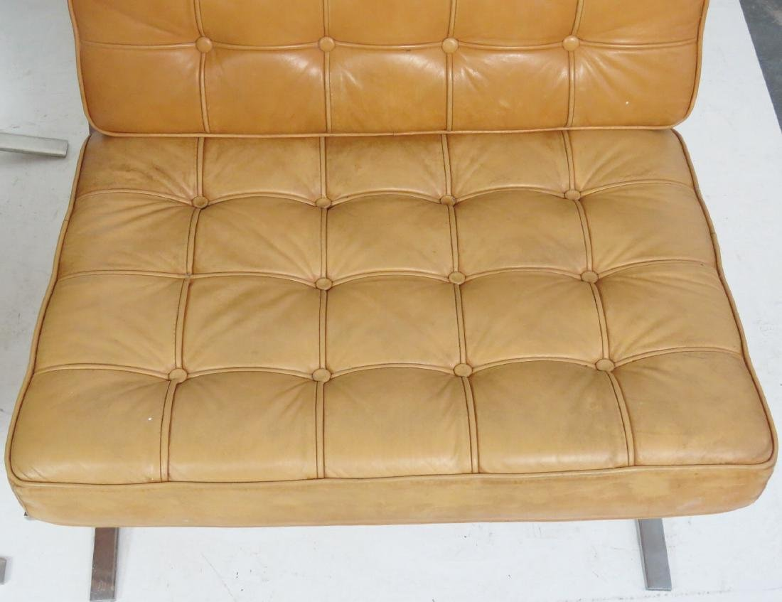 Pair MIES VAN DER ROHE STYLE BARCELONA LOUNGE CHAIRS - 3