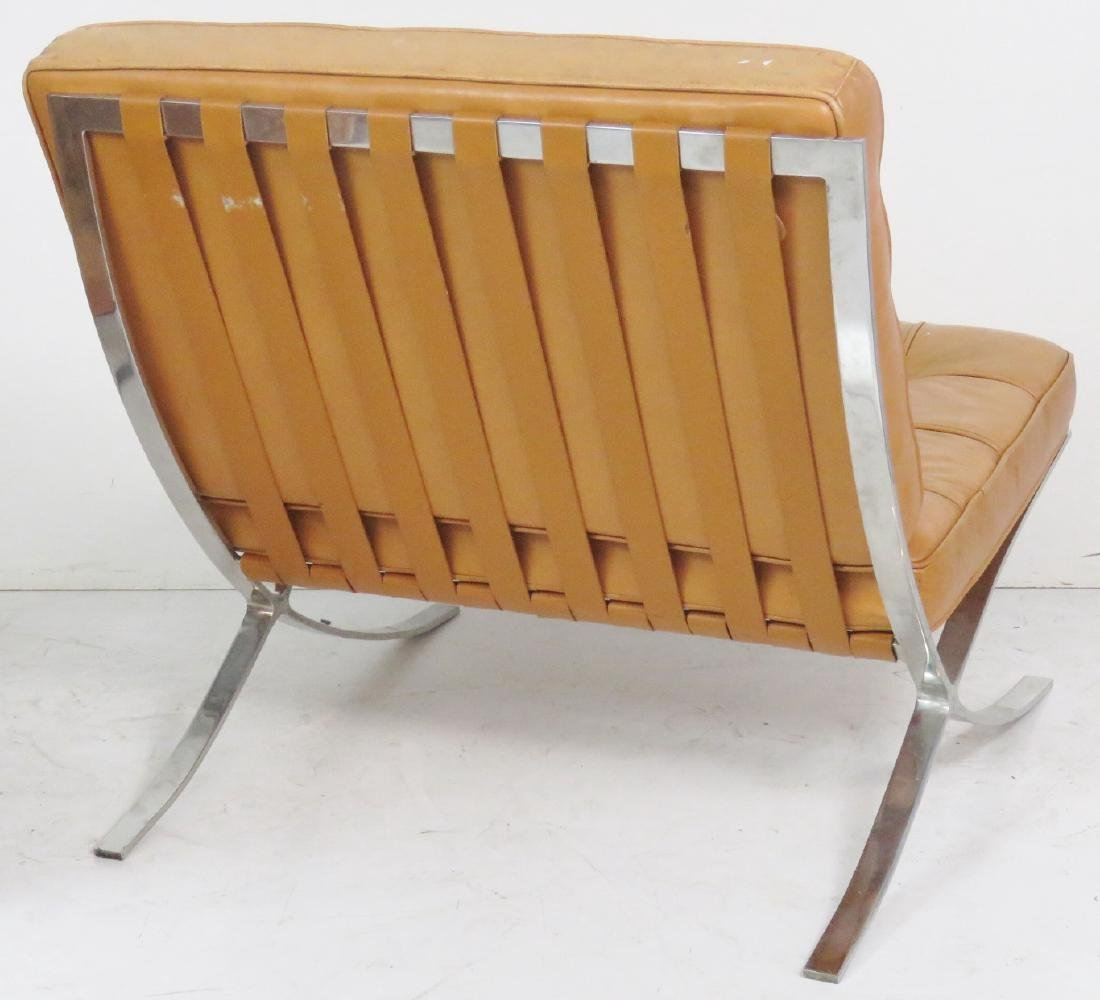 Pair MIES VAN DER ROHE STYLE BARCELONA LOUNGE CHAIRS - 5