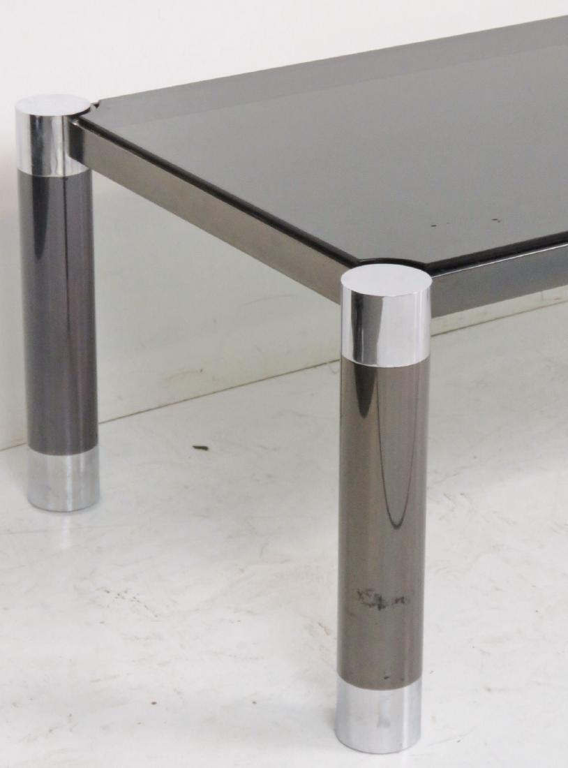 MODERN DESIGN METAL & CHROME GLASSTOP COFFEE TABLE - 3