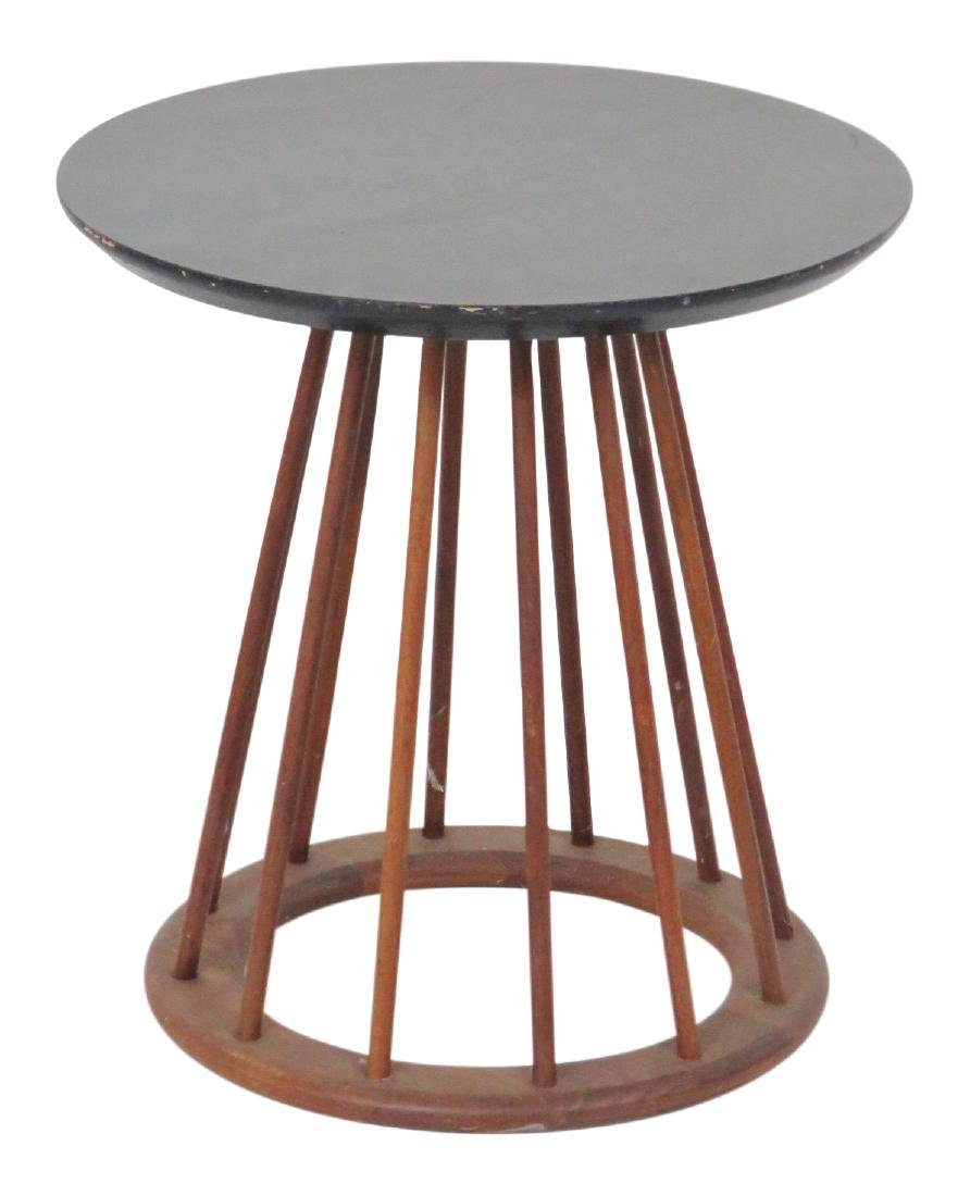 DANISH MODERN SPINDLE SIDE TABLE