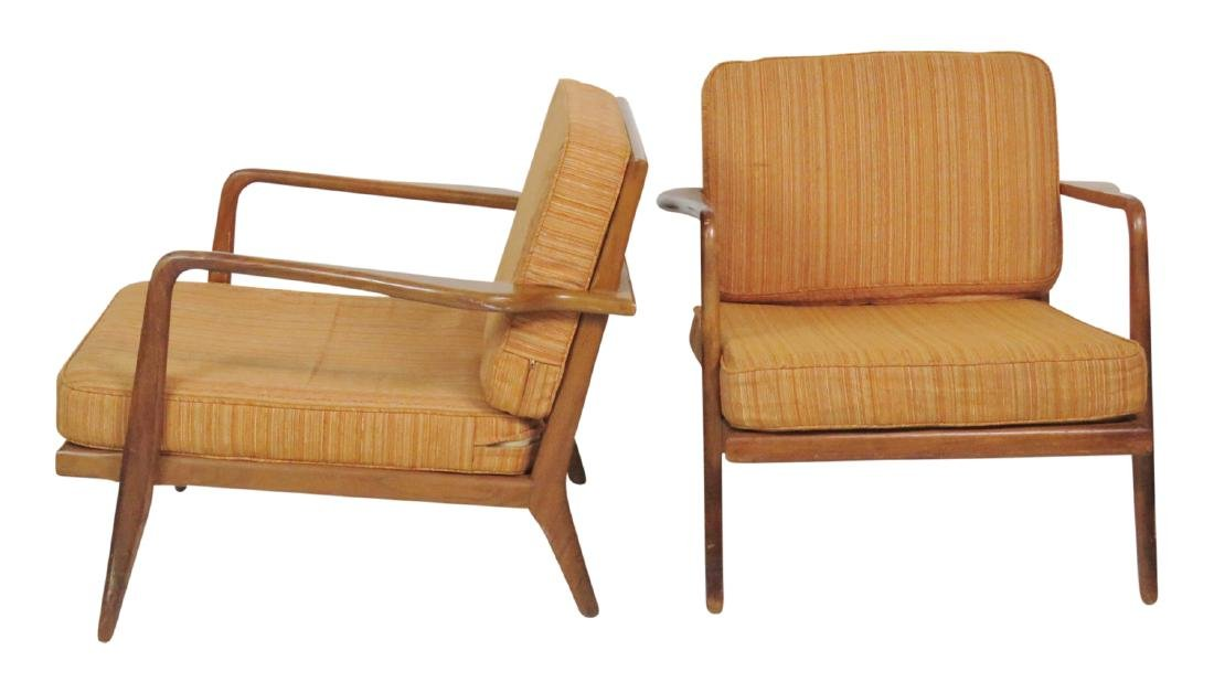Pair ROBS JOHN GIBBINGS WALNUT LOUNGE CHAIRS