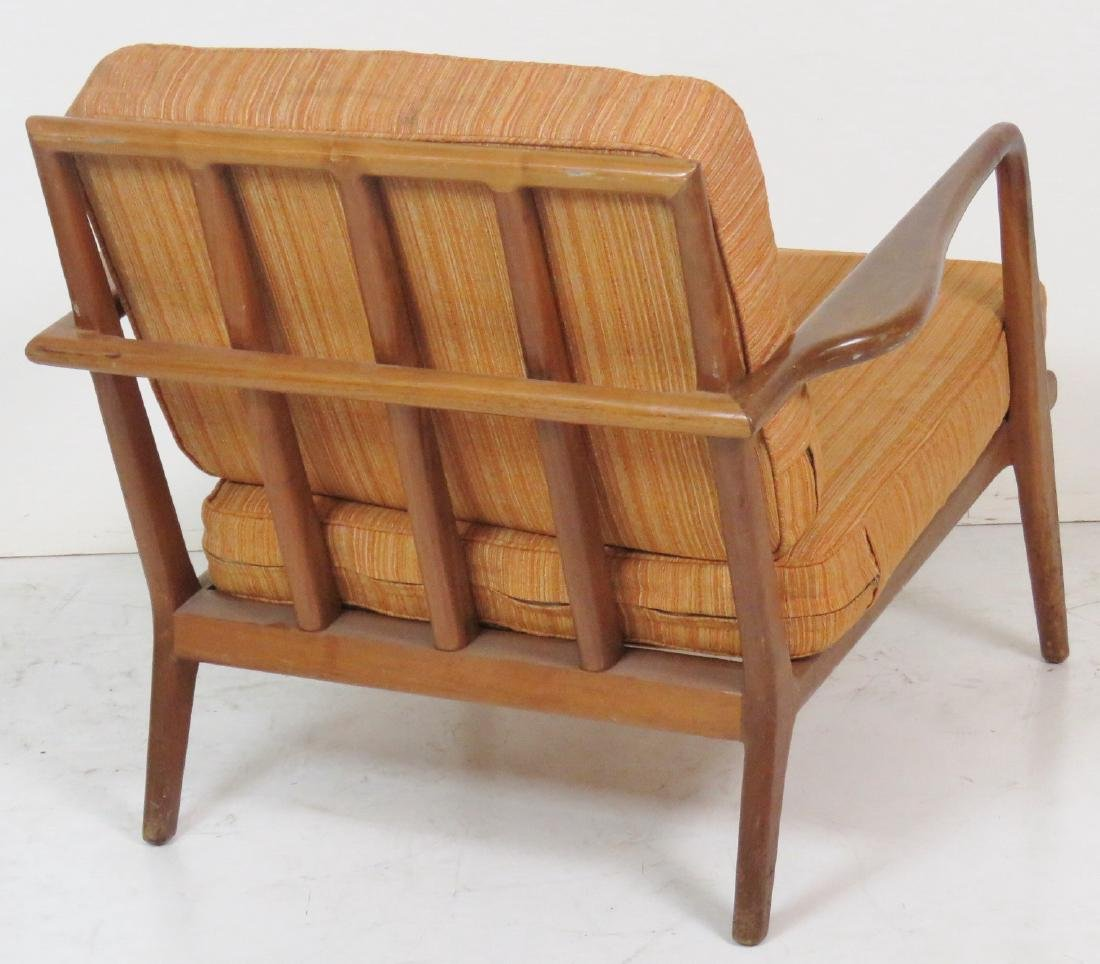 Pair ROBS JOHN GIBBINGS WALNUT LOUNGE CHAIRS - 5