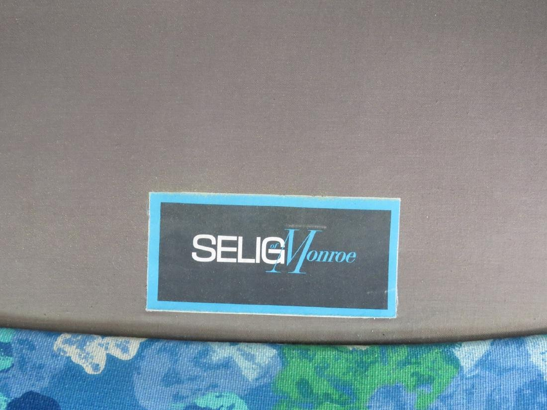 Pair SELIG MODERN DESIGN LOUNGE CHAIRS & OTTOMAN - 3