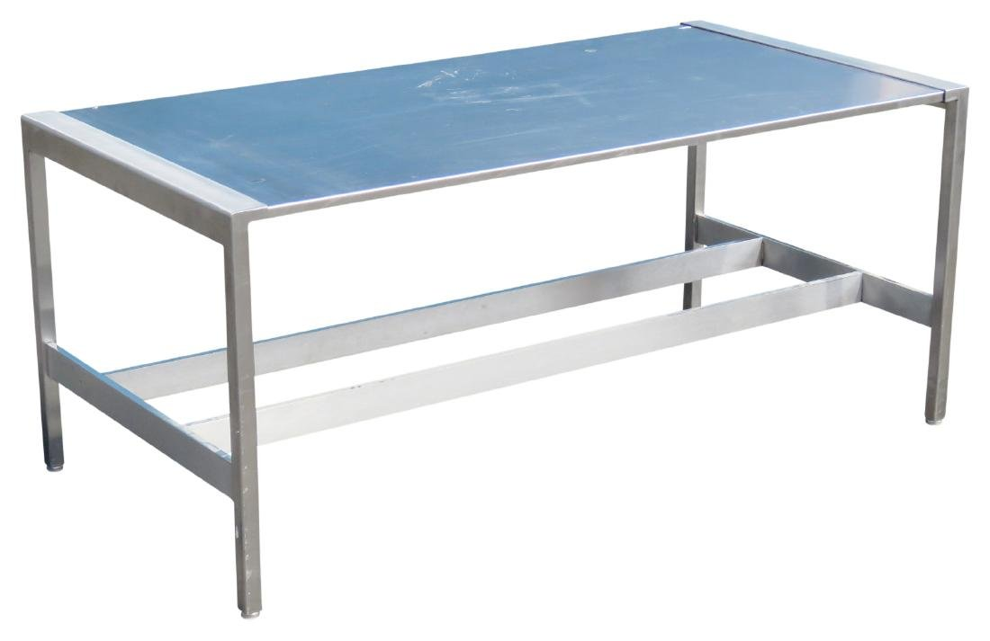 MODERN STAINLESS STEEL COFFEE TABLE