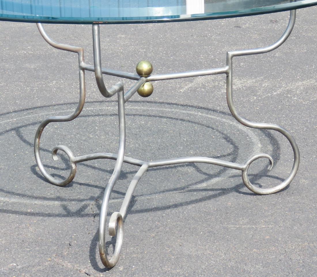JANSEN STYLE CHROME & GLASS CENTER TABLE - 2