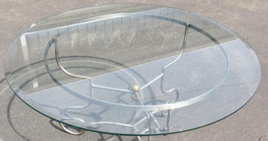 JANSEN STYLE CHROME & GLASS CENTER TABLE - 3