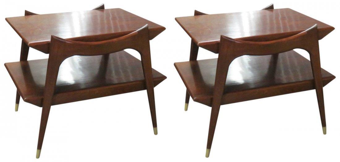 Pair FINN JUHL STYLE MODERN DESIGN END TABLES