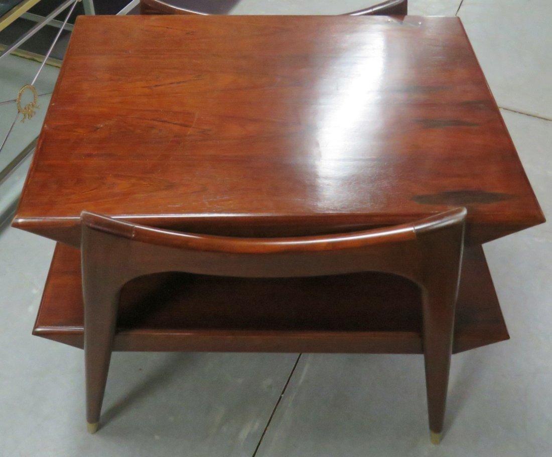 Pair FINN JUHL STYLE MODERN DESIGN END TABLES - 2
