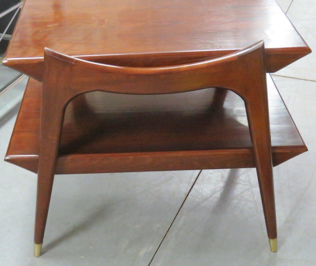 Pair FINN JUHL STYLE MODERN DESIGN END TABLES - 3