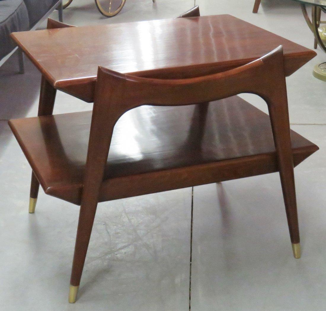 Pair FINN JUHL STYLE MODERN DESIGN END TABLES - 4