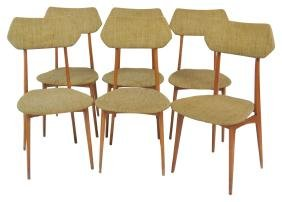 6 DANISH MODERN TEAK SIDE CHAIRS