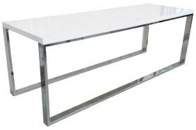 MODERN DESIGN CHROME & LAMINATE CONSOLE TABLE