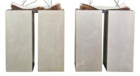 Pair LIGHTOLIER MODERN DESIGN METAL HANGING LIGHTS