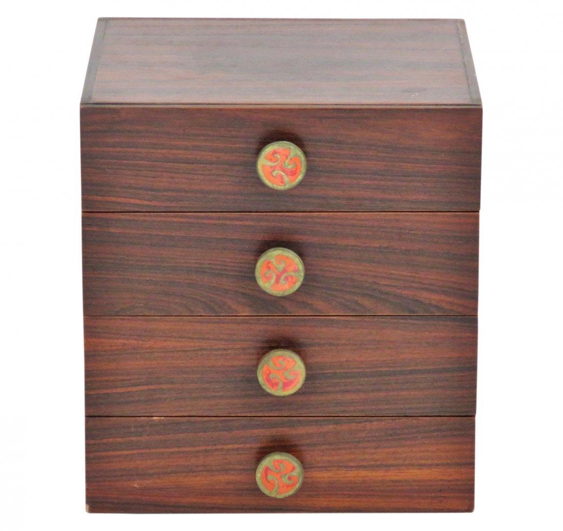 MODERN DESIGN ROSEWOOD 4 DRAWER BOX