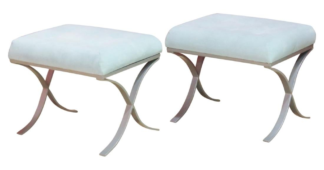 Pair MODERN DESIGN TUFTED UPHOLSTERED BENCHES