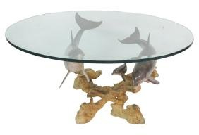Wyland Reef Visit Dolphin Table