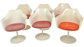 6 Eero Sarrinen For Knoll Tulip Chairs