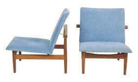 """Pair Finn Juhl """"japan"""" Lounge Chairs"""