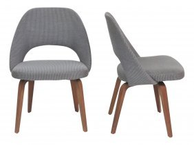Pair Knoll Modern Design Lounge Chairs
