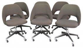 6 Knoll Modern Design Swivel Lounge Chairs