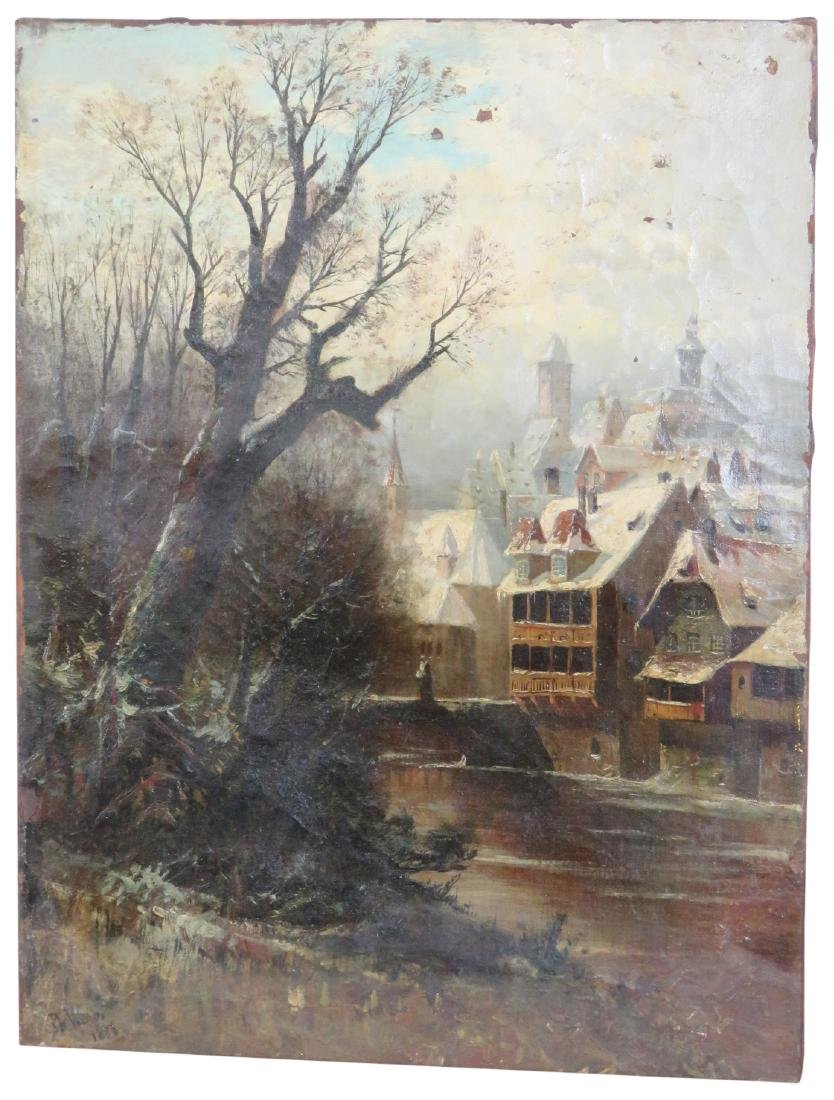 PAUL WEBER OIL PAINTING LAKEVIEW