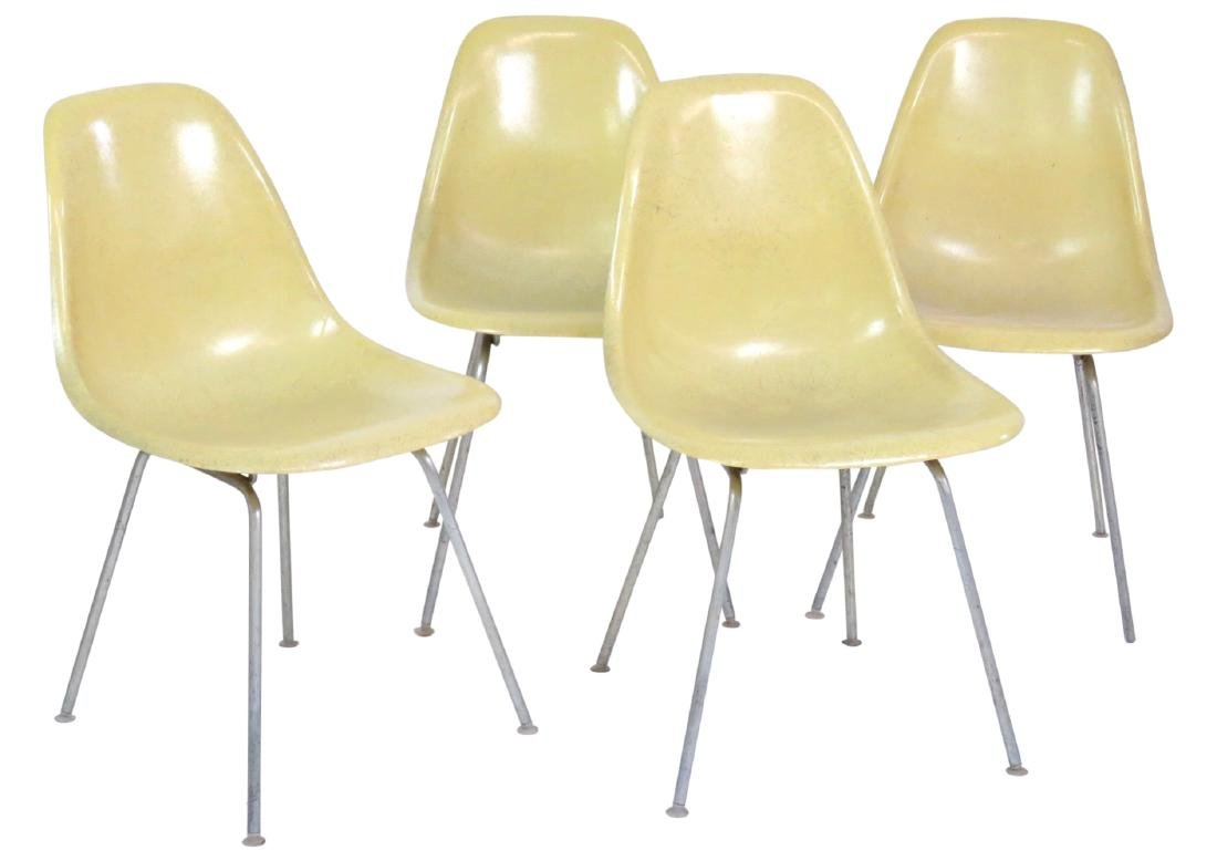 4 HERMAN MILLER CHROME ANT CHAIRS