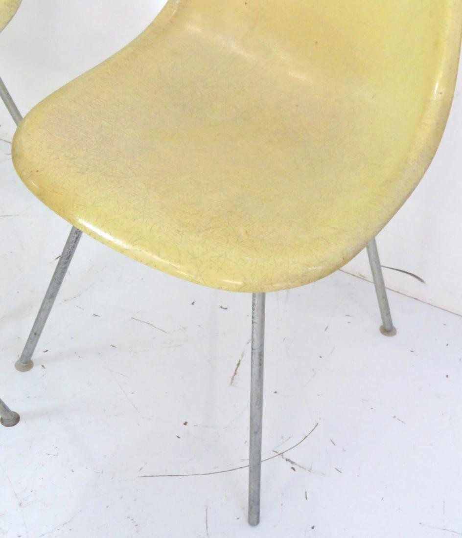 4 HERMAN MILLER CHROME ANT CHAIRS - 2