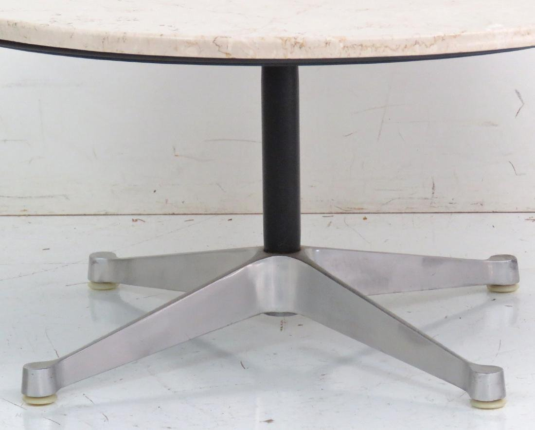 HERMAN MILLER ALUMINUM GROUP MARBLE TOP DINING TABLE - 2