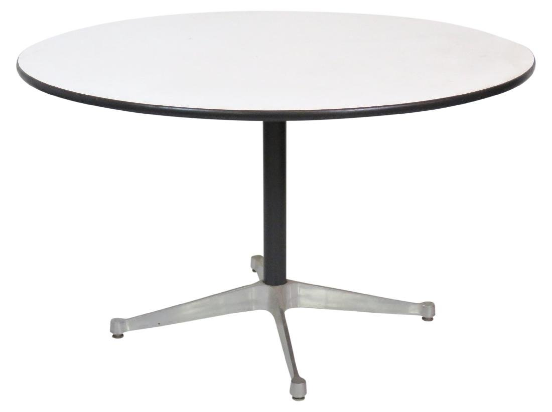 HERMAN MILLER ALUMINUM GROUP DINING TABLE
