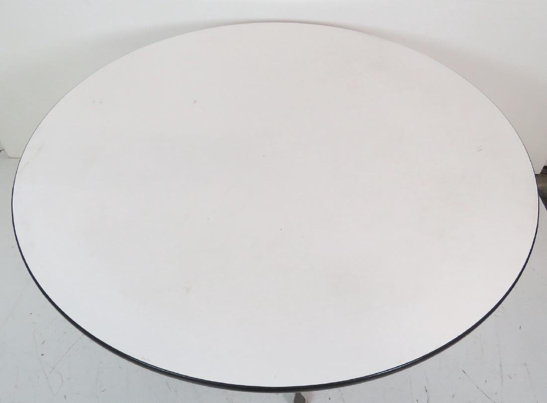 HERMAN MILLER ALUMINUM GROUP DINING TABLE - 3