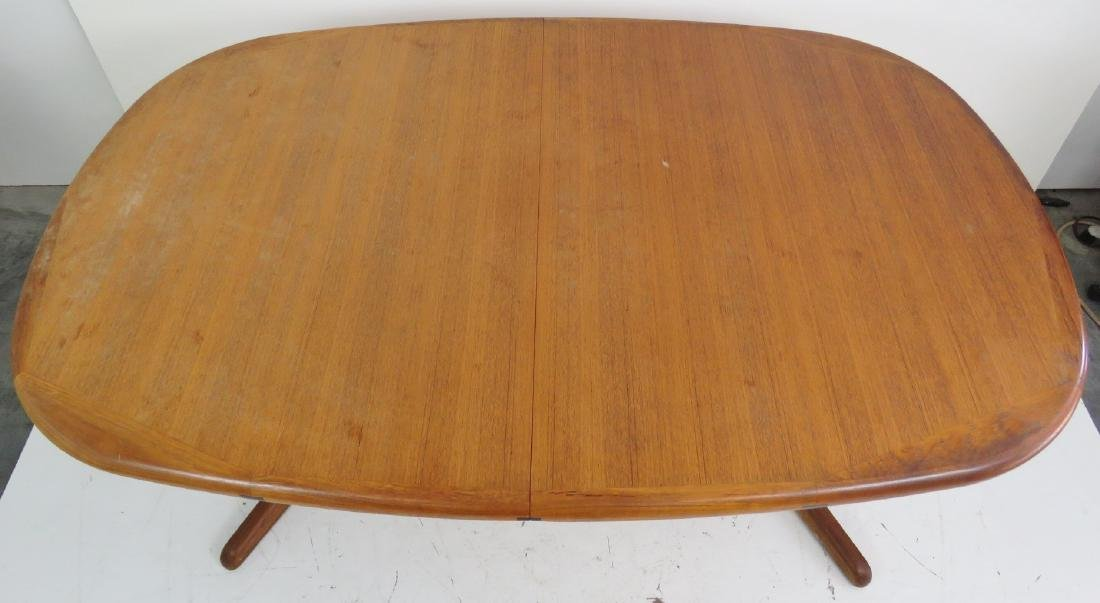 DANISH MODERN TEAK DINING TABLE - 4