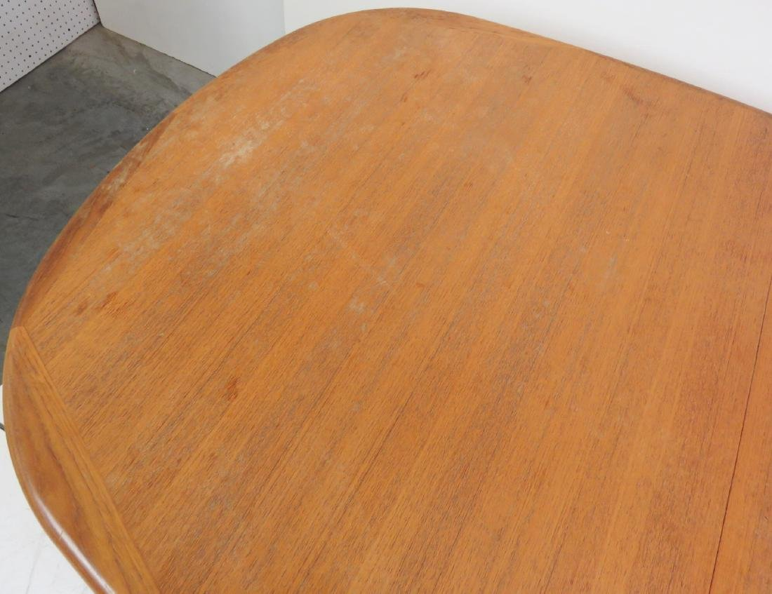DANISH MODERN TEAK DINING TABLE - 5