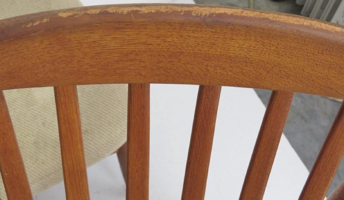 6 DANISH MODERN TEAK SLATTED BACK DINING CHAIRS - 4