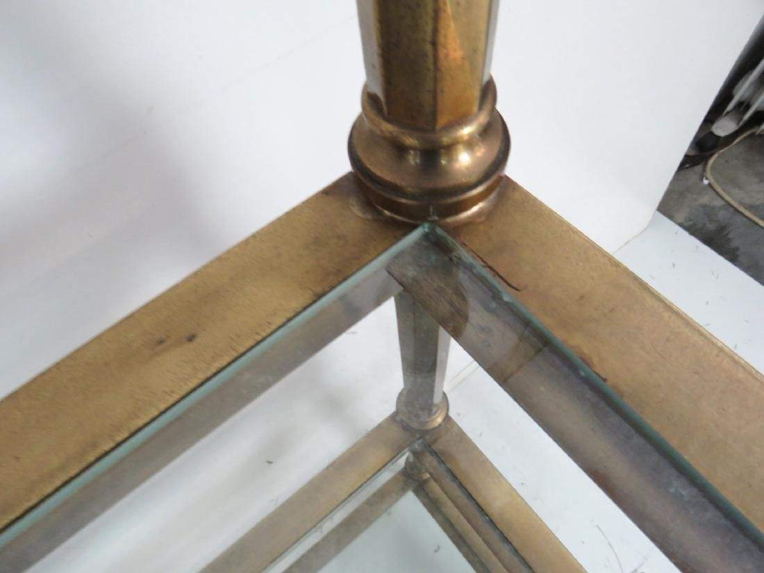 MASTERCRAFT BRASS & GLASS ETAGERE - 7