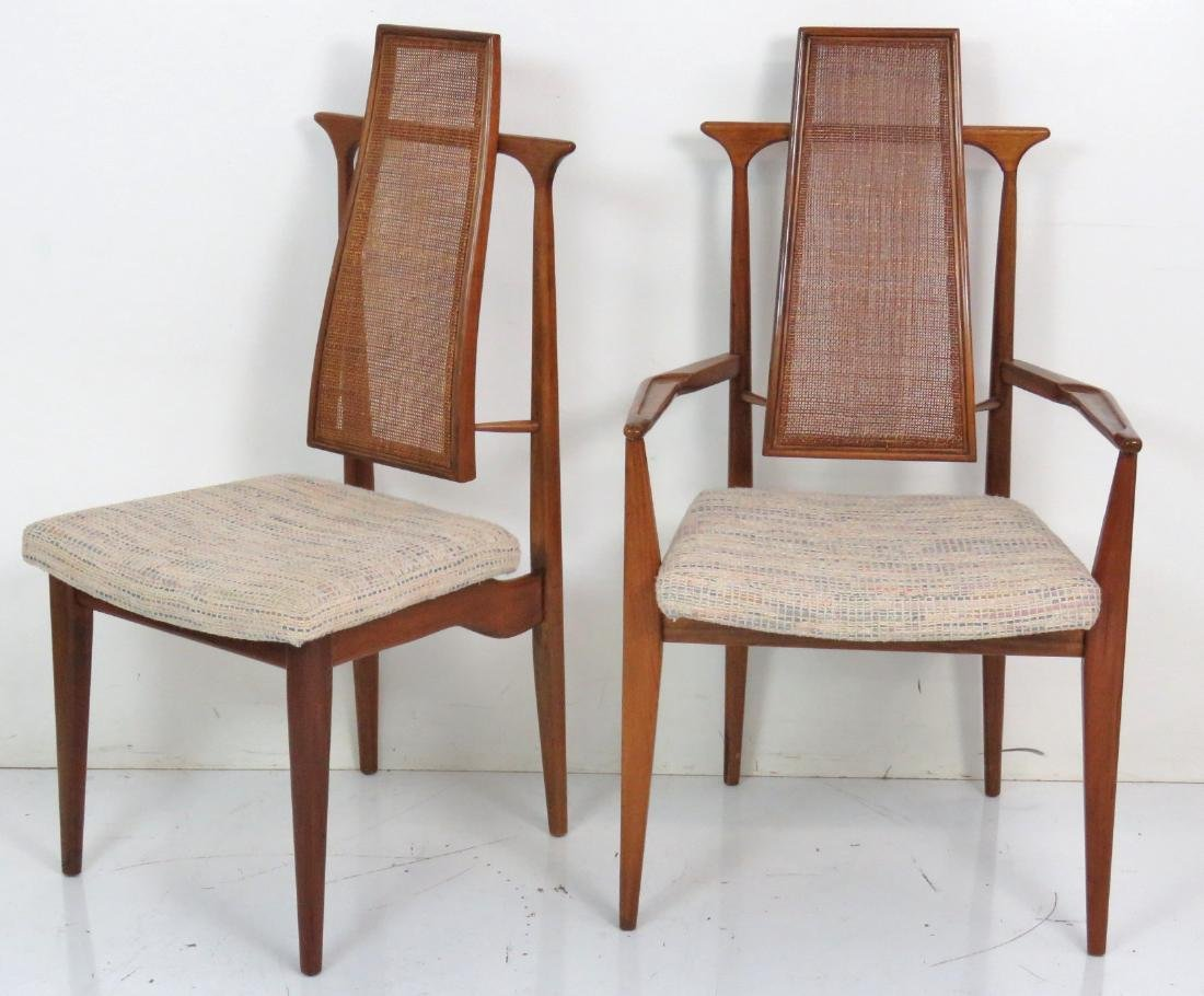 6 VLADIMIR KAGAN DESIGN CANE BACK DINING CHAIRS - 2