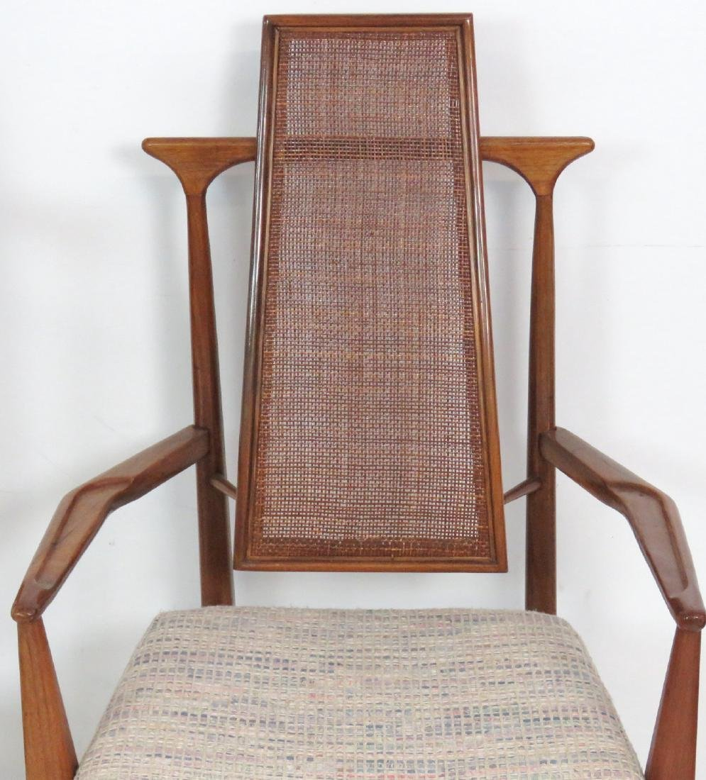 6 VLADIMIR KAGAN DESIGN CANE BACK DINING CHAIRS - 4