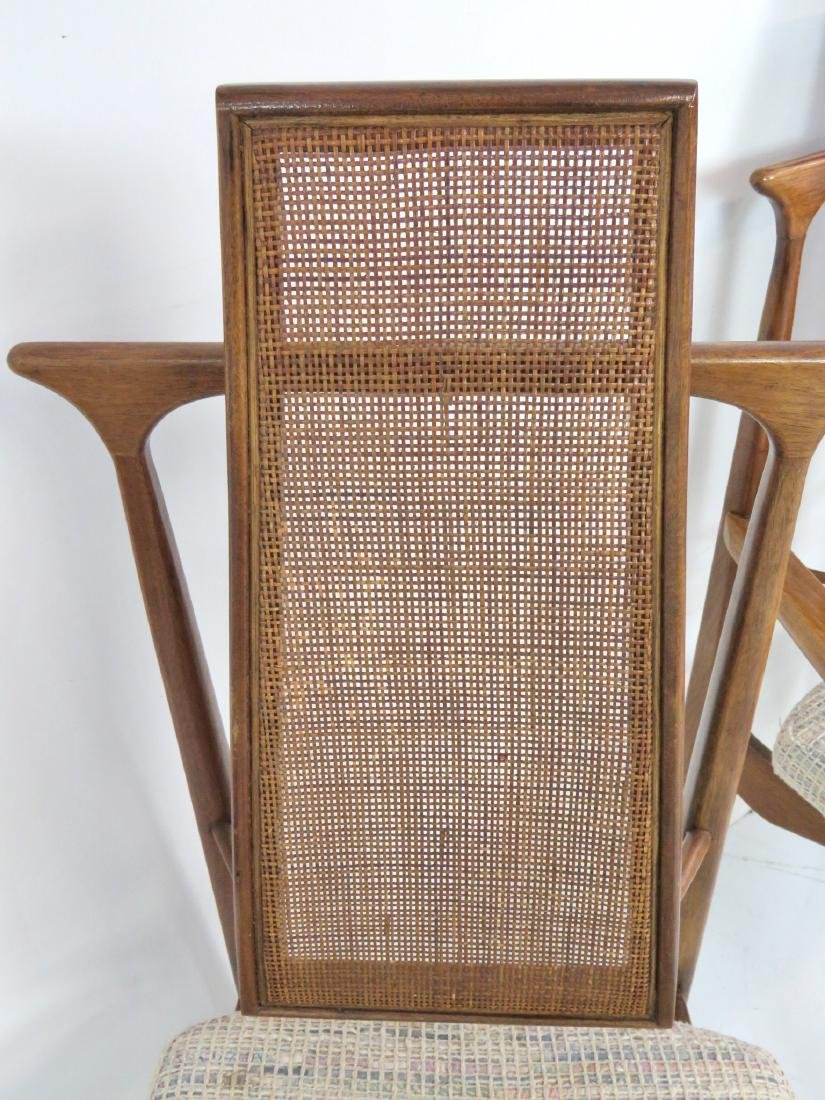 6 VLADIMIR KAGAN DESIGN CANE BACK DINING CHAIRS - 5