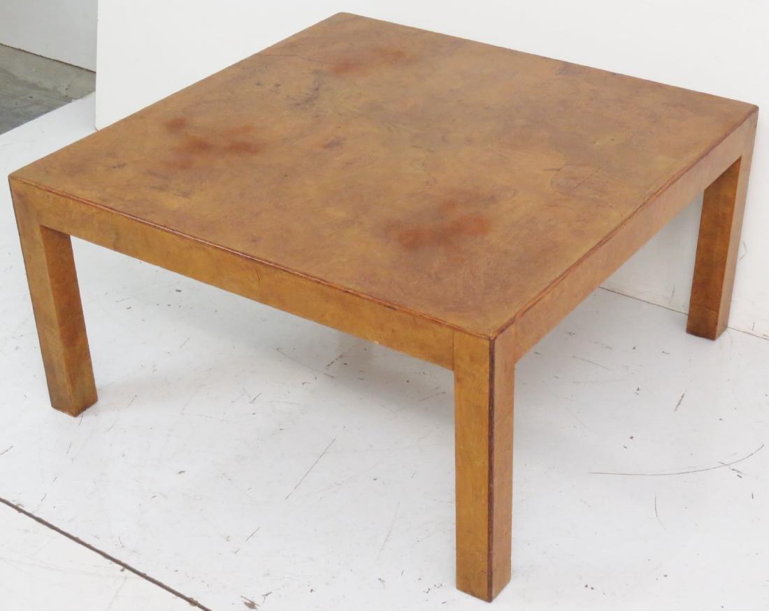 MILO BAUGHMAN STYLE BURL WALNUT COFFEE TABLE - 2