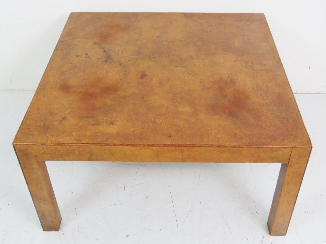 MILO BAUGHMAN STYLE BURL WALNUT COFFEE TABLE - 4