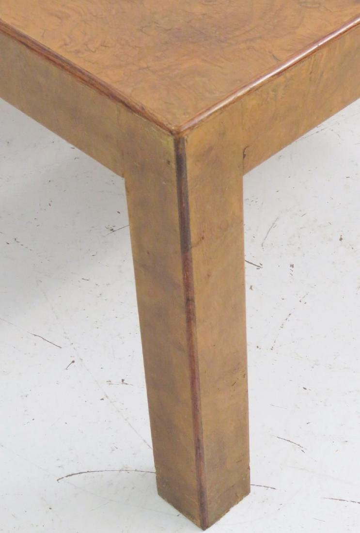 MILO BAUGHMAN STYLE BURL WALNUT COFFEE TABLE - 5