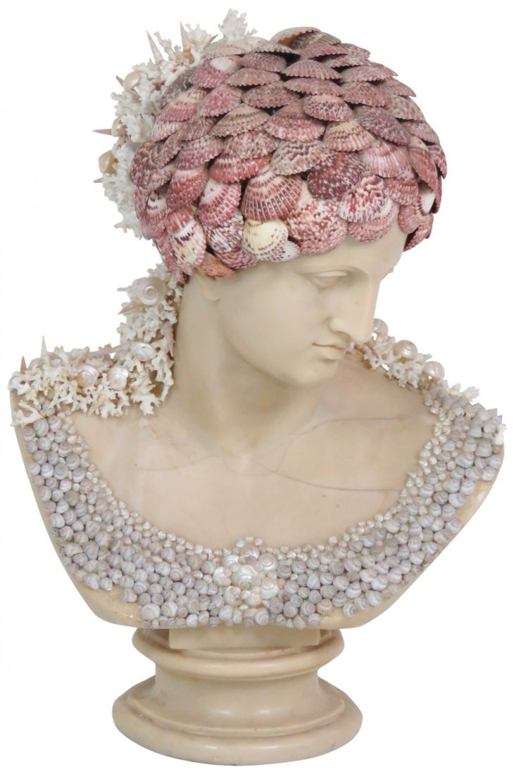 J. ANTHONY REDMILE SHELL ART BUST